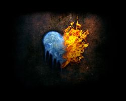 Iced Heart in Flames by kmibar