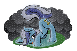 For a Minuette in the Rain by DewlShock