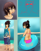 random test - bathing suits - by phation