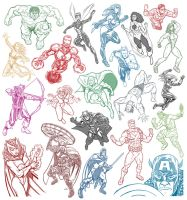 21 Avenger Sketches by quibly