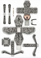 Wilfred paper toy template by Ditch-scrawls