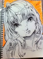 Sketch - Buuuu by hiru-miyamoto