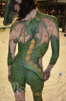 Dragon in Disguise body paint (back) by ElleFX