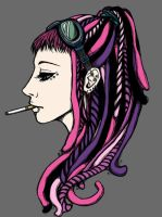 Dreadlocks by p-ink-eyes