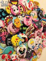 Fabric Buttons by MDHatters