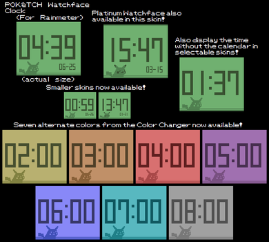 Poketch Watchface Clock (For Rainmeter) by TheWolfBunny