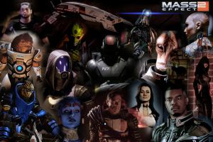 MASS EFFECT 2 WALLPAPER by Volkrex