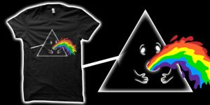 Barf Side of the Moon Tshirt by biotwist
