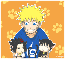 NARUTO : TWO CATS IN THE HOUSE by Aoeiya
