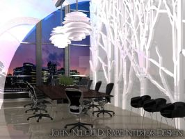 Modern Conference Room by JaeNelled14
