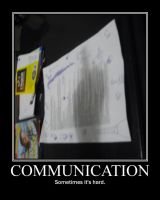 communication demotivator by Stickbomber