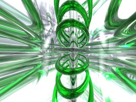 Green Cell by Abstracttoro