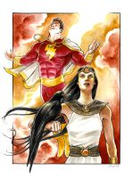 Shazam and Isis by DanielGovar