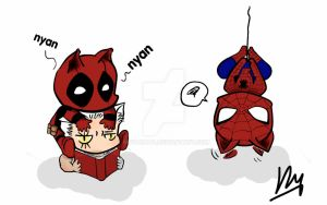 nyan deadpool and friends by nuyanata