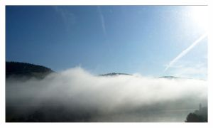 Mists over Moselle river by ValerianaSolaris