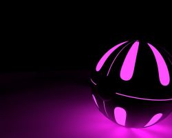 Lavender Dark Pokeball by MalcolmHinds