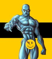 Dr. Manhattan in color by GavinMichelli