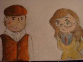Layton and Claire by Open-your-Heart