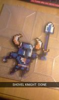 Shovel Knight (Perler Beads) by dylrocks95
