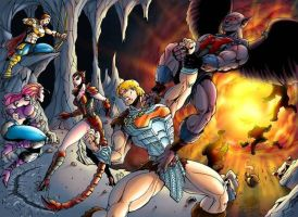 He-man battles Vultak by shawnmp