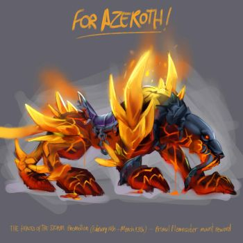 Primal Flamesaber - Heroes of The Storm Promotion by azerothin365days