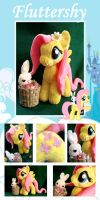 Spring time Fluttershy and Angel Bunny by Furboz