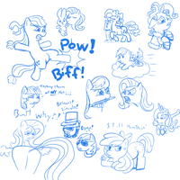 Brony Day Stream Sketches by TanMansManTan
