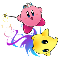 Kirby rosalina and luma by Efraimrdz