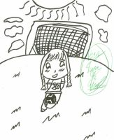 Chibi Soccer Girl Uncolored by LataraTheWaterBender