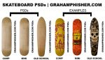 Skateboard PSDs by GrahamPhisherDotCom