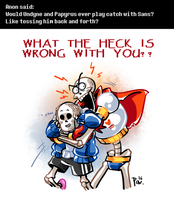 Undertale ask blog: ABSOLUTELY NOT by bPAVLICA