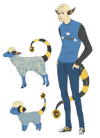 Dave the Mareep by CheezieSpaz