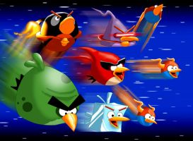 Angry Angry Space Birds by UncleLaurence
