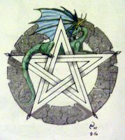 Dragon pentacle by IrishArtiste