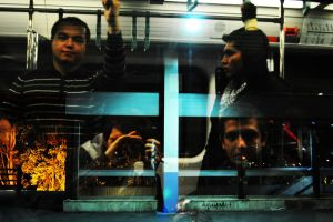 Four Lifes on the train windows by ahfmm