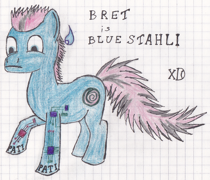 Bret is Blue Stahli Pony by Niles-Prower