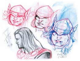 the many faces of Thor by an-HELL-us