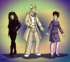 Five, Nyssa and Tegan by cardinalbiggles