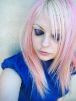 Sad Cherry Blond Pink Girl by cherrybomb-81