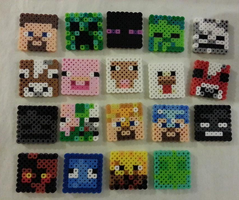 Minecraft Perler Character Faces by CraftinNerdy