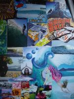 Surfing Collage Detail 2c by ChaoticatCreations