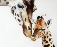 Giraffe Painting by Anime-Reality