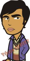 Raj - The Big Bang Theory by toonseries