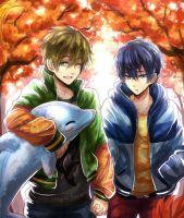 Free! Autumn walk by Evil-usagi