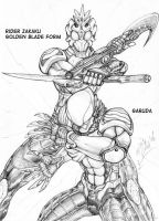 rider zakaku and garuda by MikeNick