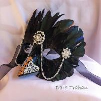 Raven Masquerade Mask by DaraGallery