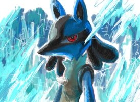 Lucario by thitiwatc