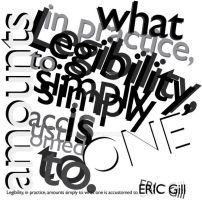 Project1 Typography ILLEGIBILE by batucy