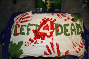 Left 4 Dead Cake by Zackarra