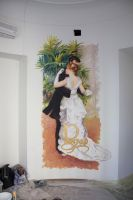Mural for Renoir wedding agency by tiN-naR